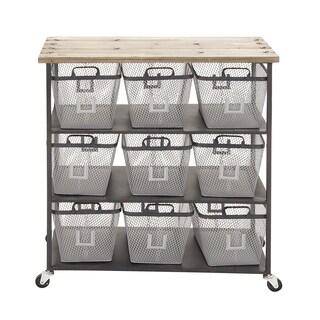 Iron and Wood Storage Cart