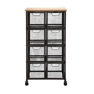 Iron and Wood Storage Cabinet