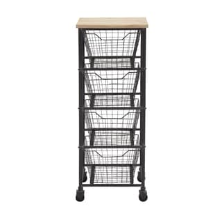 Metal 41-inch 4-drawer Wheeled Storage Cart