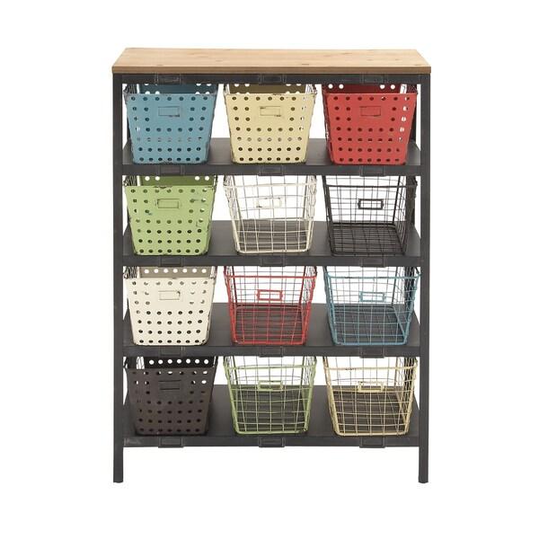 Metal 44-inch Multi-colored Storage Rack