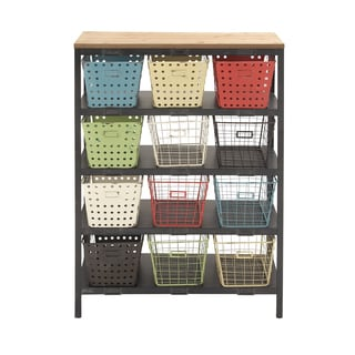 Metal 44-inch Multi-colored Storage Rack