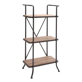 Metal/ wood 3-level Storage Shelf