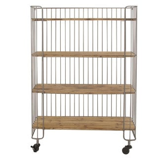 Wire Frame Storage Shelf with Casters