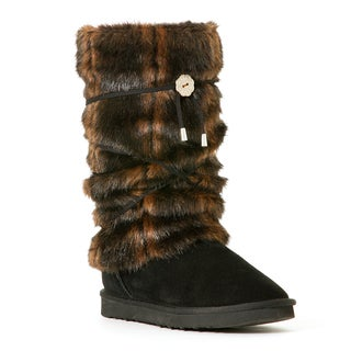 Hugrz Striped Mink-style Boot Wraps with Black Lacing