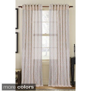 Glority Sheer Embroidered Curtain Panel