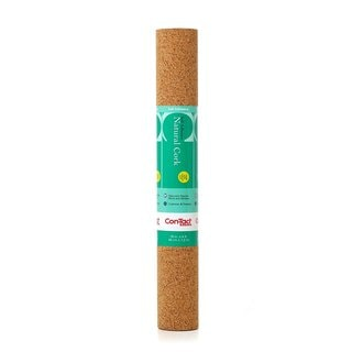 """Con-Tact Cork Non-adhesive Non-Slip Shelf and Drawer Liner (Pack of 6) - 12"""" x 48"""""""