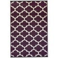 Indo Tangier Plum and White Geometric Area Rug (6' x 9')