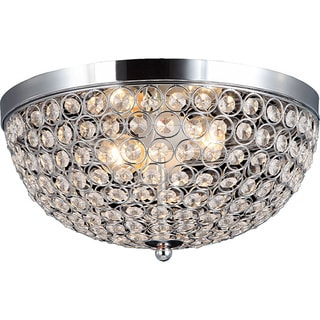Elegant Designs 2-light Elipse Crystal Flush Mount