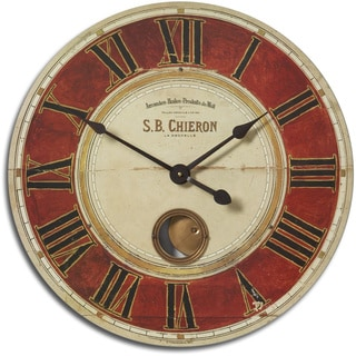 Chieron Antique Brass 23-Inch Wall Clock