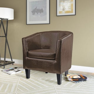 CorLiving Antonio Bonded Leather Tub Chair