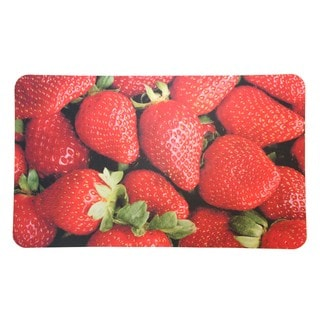 "Strawberry Cushioned Kitchen Floor Mat (18"" x 30"")"