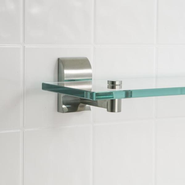 Wave Glass Bathroom Shelf