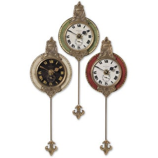 Uttermost Small Monarch Wall Clocks (Set of 3)
