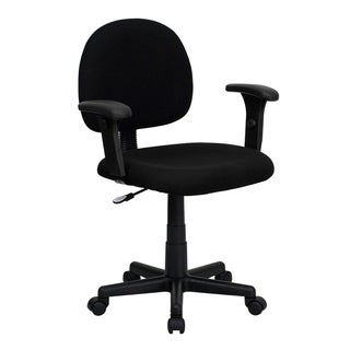 Offex Mid-Back Ergonomic Fabric Task Chair with Adjustable Arms