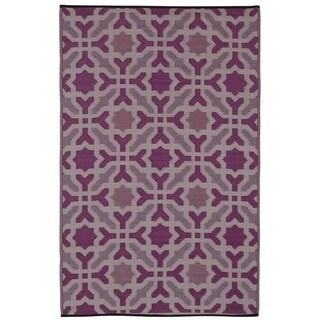 Indo Seville Multicolor Purple Geometric Area Rug (5' x 8')