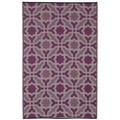 Indo Seville Multicolor Purple Geometric Area Rug (5' x 8')