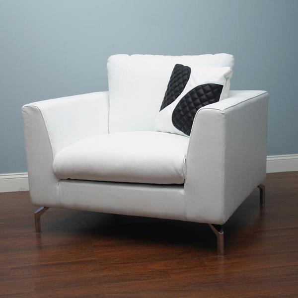 Stanley White Leather Chair