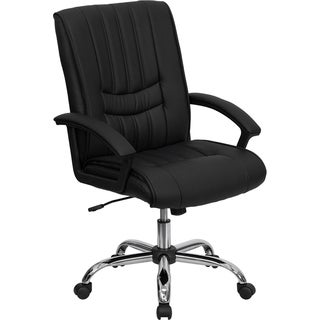Offex Mid-Back Black Leather Manager's Chair