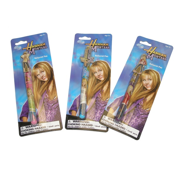 Disney Hannah Montana Ballpoint Pens (Set of 3)