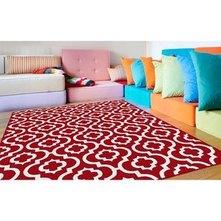 Metropolis 1020 Red Polypropylene Area Rug (8' x 10')