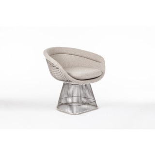 The Pella Upholstered/ Stainless Steel Arm Chair