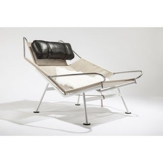 The Flag Leather/ Stainless Steel Ergonomic Lounge Chair