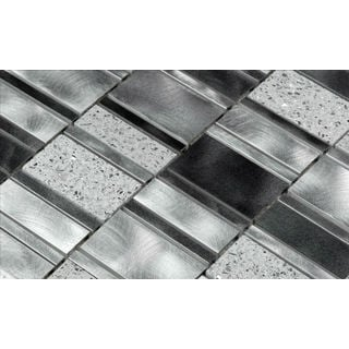 Martini Mosaic 11.5 x 11.5 Citta Silver Pacific Tiles (Set of 6)