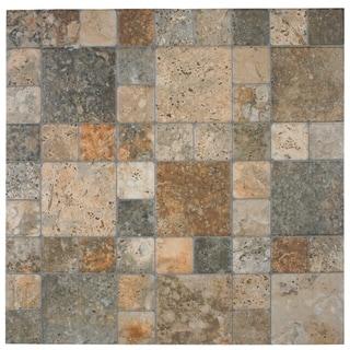 SomerTile 12.25x12.25-inch Folio Por Noce Porcelain Floor and Wall Tile (Case of 15)