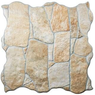 SomerTile 12.25x12.25-inch Llano Por Beige Porcelain Floor and Wall Tile (Case of 12)