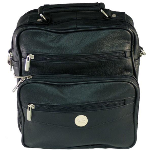 Black Leather 'Lock & Key' Handgun Side Bag