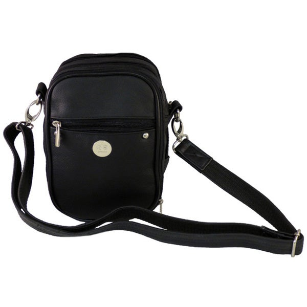 Small Black Leather Anti-theft Handgun Bag