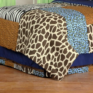 One Grace Place Jazzie Jungle Boy's Full Bedskirt
