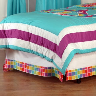 One Grace Place Terrific Tie Dye Full Bedskirt