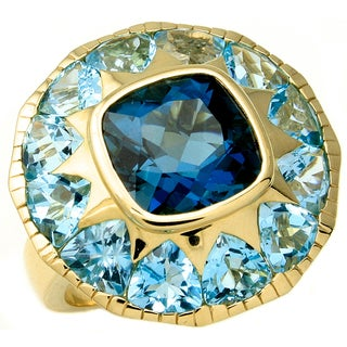 Beverly Hills Charm 14k Gold Gemstone Cocktail Ring