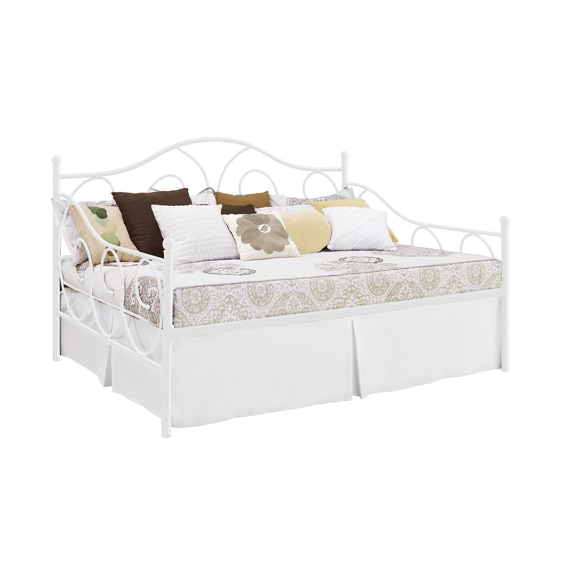 dhp victoria full size white metal daybed overstock shopping great deals on dhp beds. Black Bedroom Furniture Sets. Home Design Ideas
