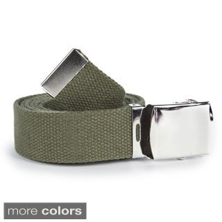 Unisex Solid Canvas Web Belt