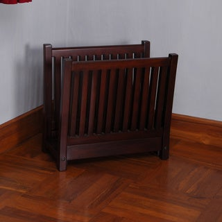 D-Art Amanda Mahogany Wood Magazine Rack (Indonesia)