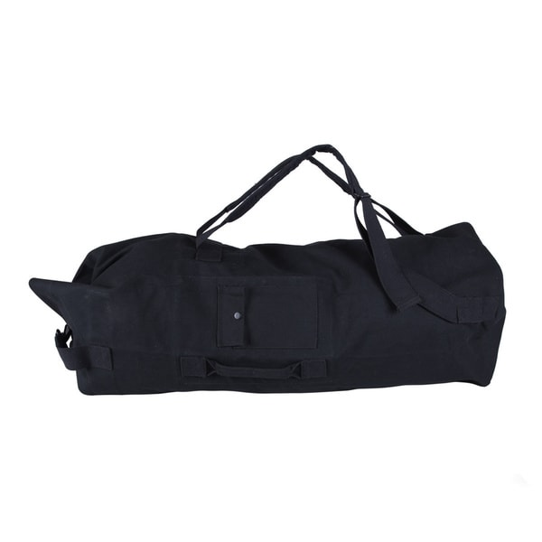 StanSport Double Strap Black Canvas Bag