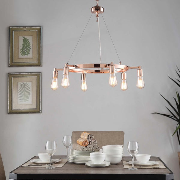 Rae 6-light Copper Chandelier