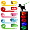 LED Night Safety Pet Nylon Neck Adjustable Collar + Leash Bundle