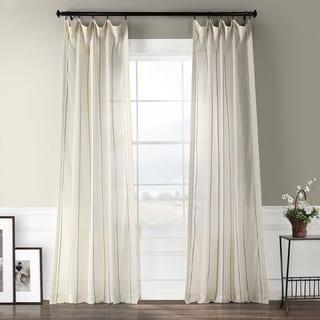 EFF Aruba Striped Linen Sheer Curtain Panel