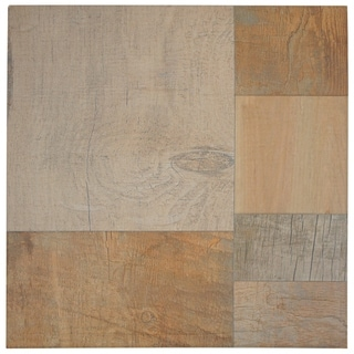 SomerTile 17.375x17.375-inch Lumber Beige Porcelain Floor and Wall Tile (Case of 8)