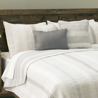 Sanibel Island Stripe 5-piece Cotton Quilt Set