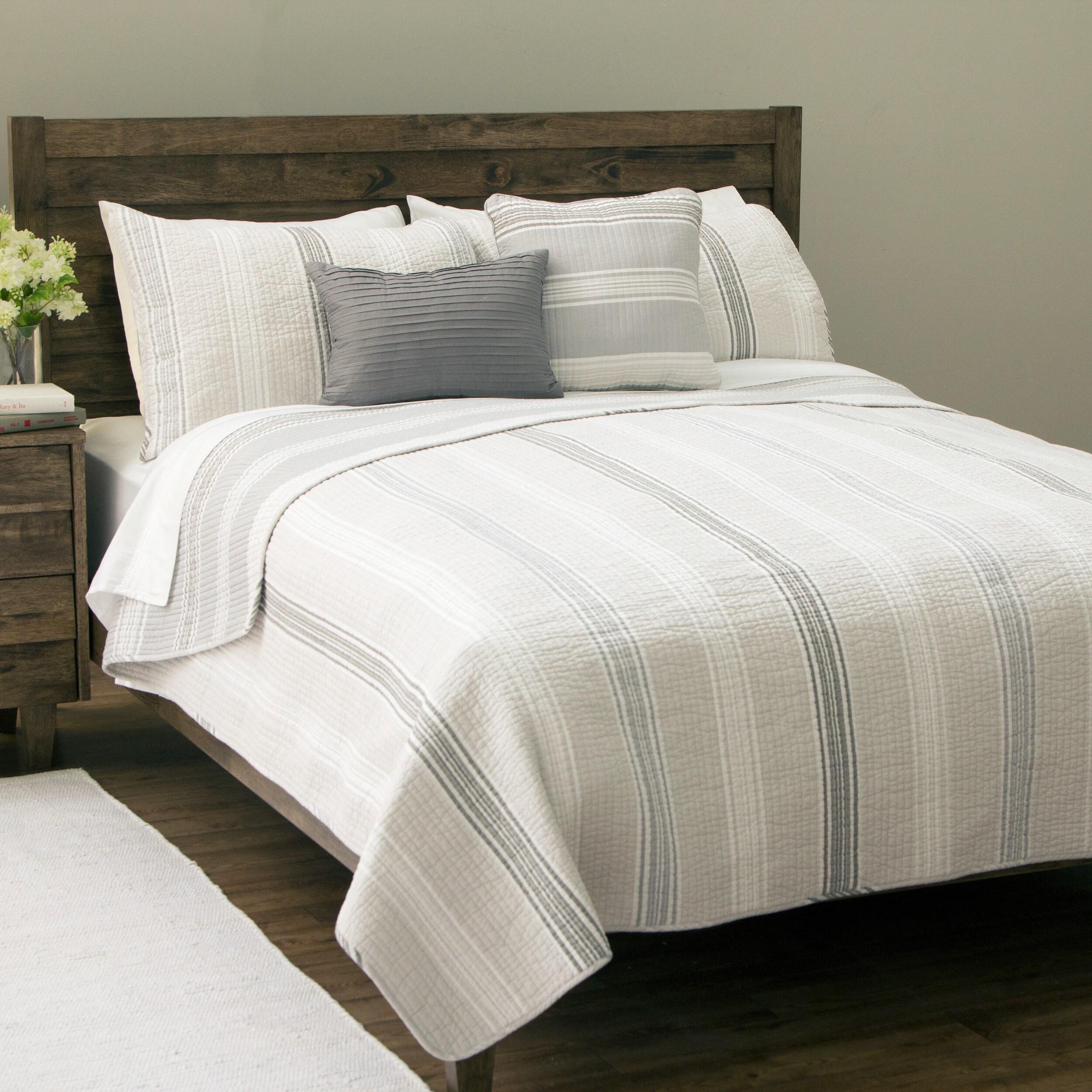 Retro Chic Retro Stripe Cotton Quilt y comentarios (elegir que se ajusta, se adapta bien a)