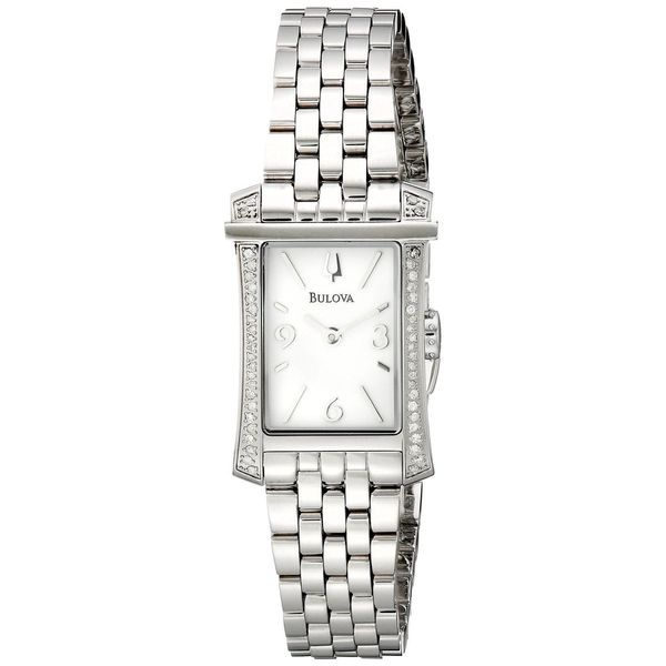 Bulova Women's 96R186 Stainless Steel Diamond Accent Watch