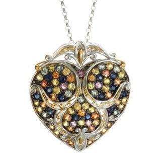 Michael Valitutti Palladium Silver Multi-Sapphire Pendant