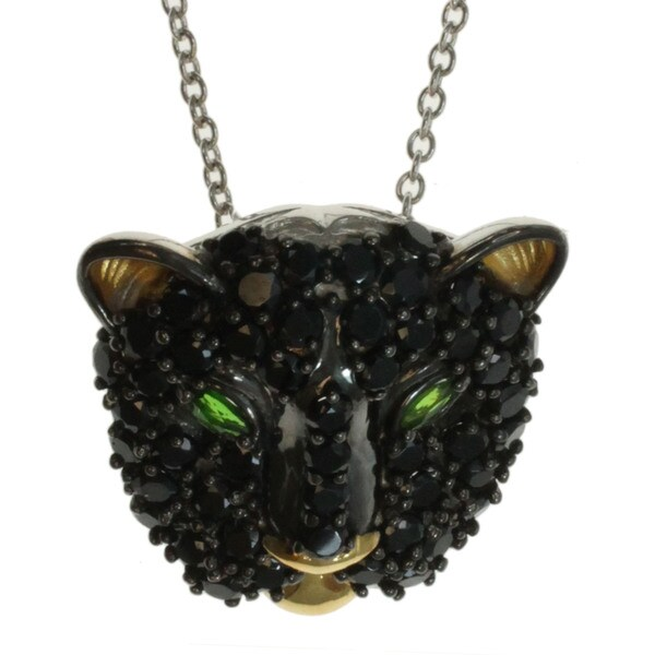 Michael Valitutti Black Spinel Panther Pendant