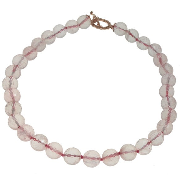 Michael Valitutti Rose Quartz Necklace