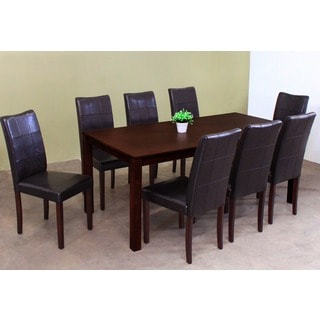 Warehouse of Tiffany Eveleen Brown 9-piece Dining Set