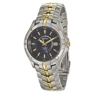 Seiko Men's Core Stainless Steel and Yellow Goldplated Kinetic Powered Watch